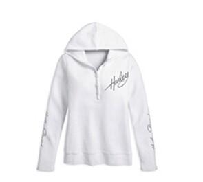 Chandail à Manches Longues et Capuche pour Femme Harley-Davidson® Coton Blanc 99108-10VW