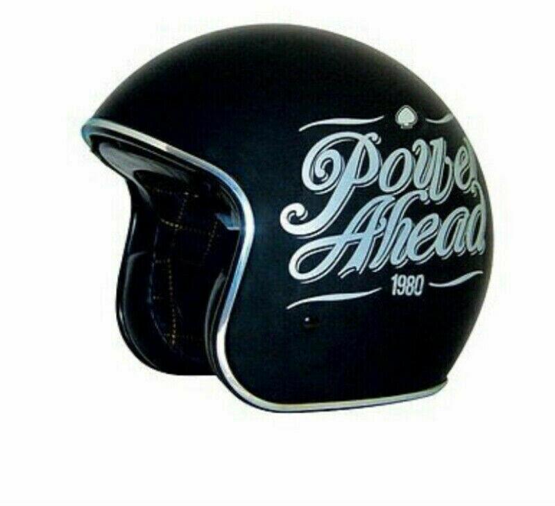Casque ZOX Helmets® Route 80 DDV Noir avec Graphique Vintage 88-20165