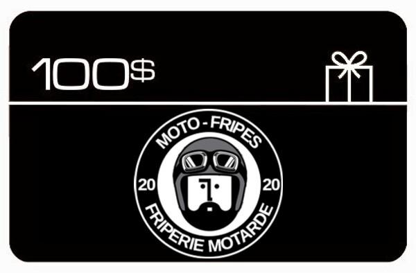 Carte Cadeau Moto-Fripes Votre Friperie Motarde