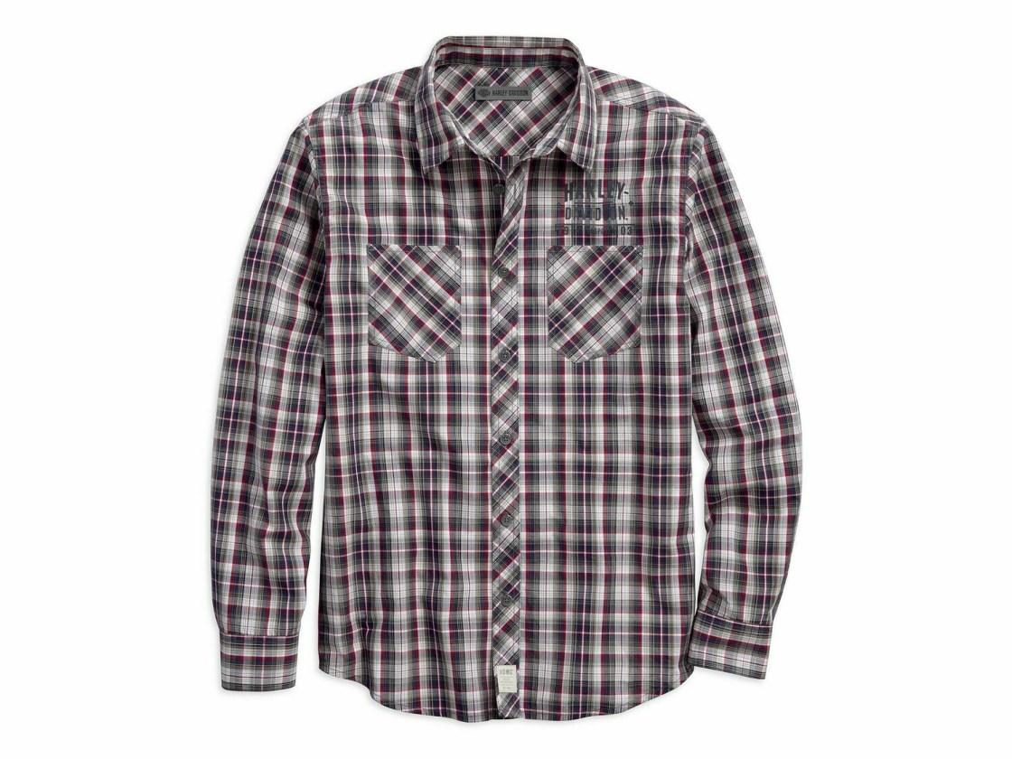 Chemise à Manches Longues pour Homme Harley-Davidson® Coton à Carreaux 96236-18VM