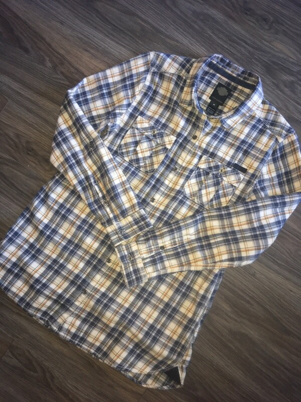 Chemise à carreaux avec manches retroussées pour Femmes Harley-Davidson® 96275-16VW