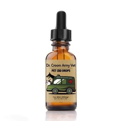 Dr. Croom Army Vet 250 mg Pet CBD drops