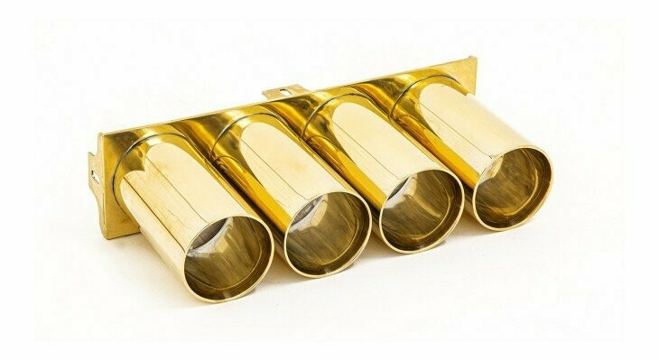 Tailpipes gold plated