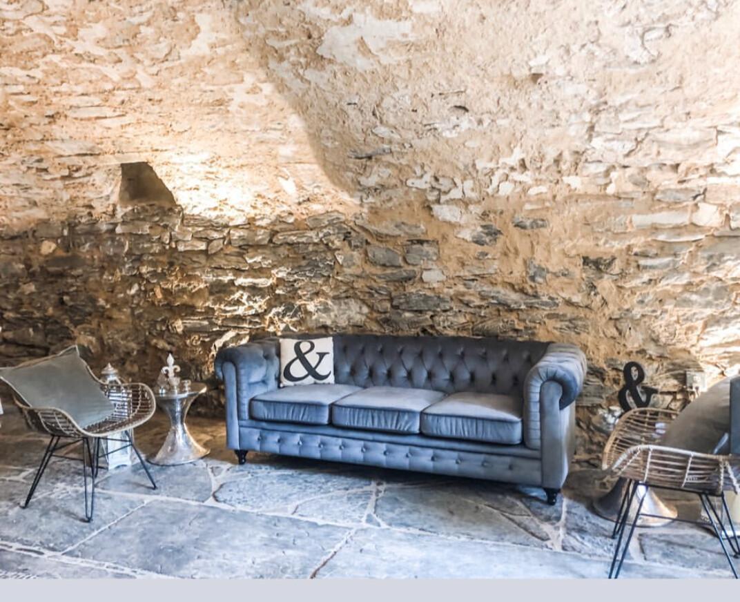 Emory Blue Grey Velvet Sofa