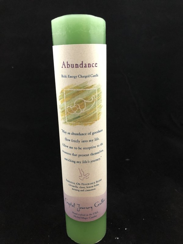 Herbal Magic Pillar - Abundance (1 1/2