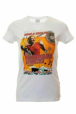 Moorings Bar Retro Mens T-Shirt / Tee - 'Take A Trip To... The Beermuda Triangle'