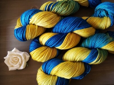 Starry Night Hand Dyed Yarn