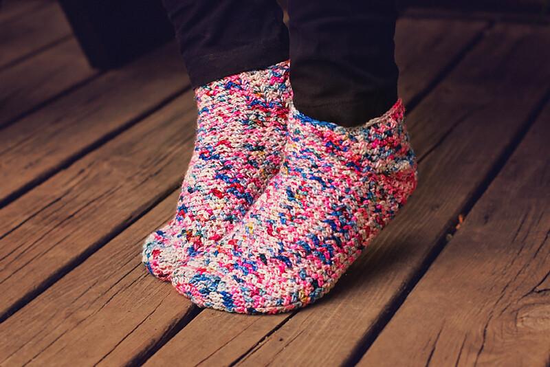Confetti Socks Crochet Pattern