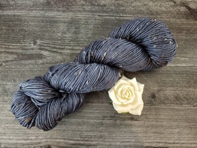 Midnight Tweed Hand Dyed Yarn