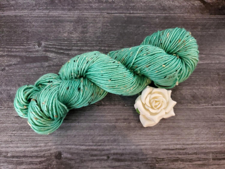 Mint Tweed Hand Dyed Yarn