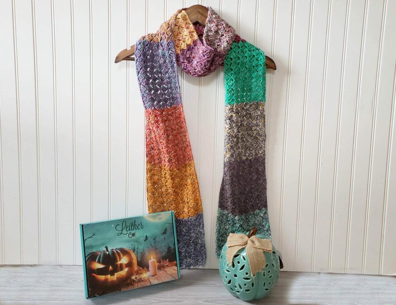 Pumpkin Patch Scarf Crochet Pattern