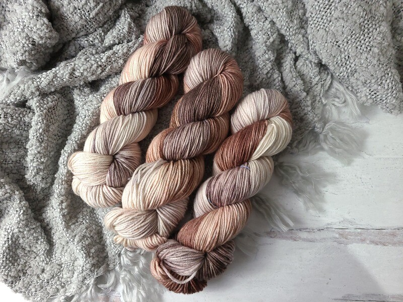 Hot Chocolate (DK) Hand Dyed Yarn Ready to Ship