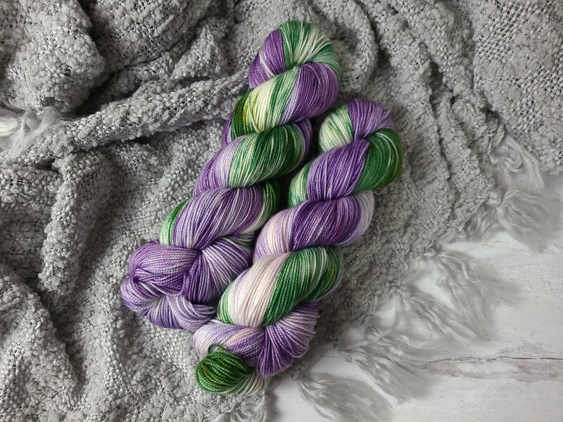 Blooming Flowers (Sock) Hand Dyed Yarn Ready to Ship