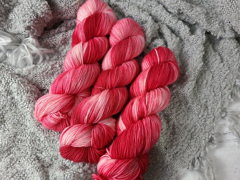 Christmas Stockings (Sock, Sparkle Sock and DK) Hand Dyed Yarn Ready to Ship