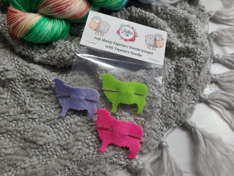 Felt Sheep Tapestry Needle Holder