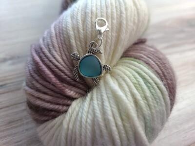 Blue Turtle Stitch Marker