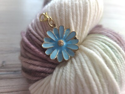 Large Blue Flower Stitch Marker