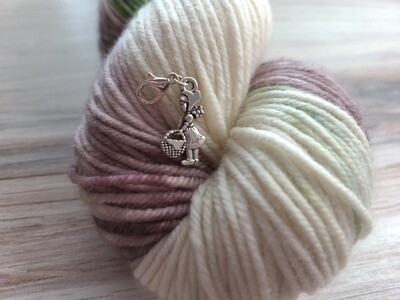 Little Red Riding Hook (Silver) Stitch Marker