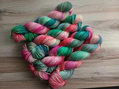 Flamingo Bay Hand Dyed DK Yarn