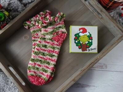 Grinchmas Socks Crochet Pattern