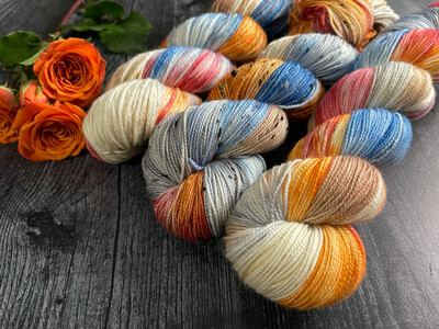 Cozy Hand Dyed Yarn - It's Fall Ya'll Collection