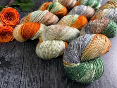 Fall Fox Hand Dyed Yarn - It's Fall Ya'll Collection