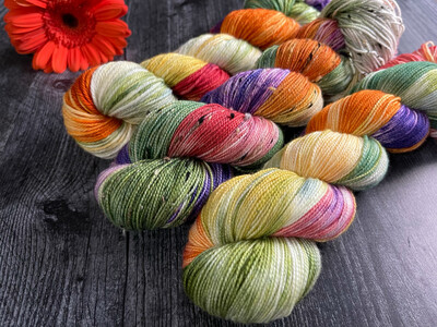 Fall Leaves Hand Dyed Yarn - It's Fall Ya'll Collection