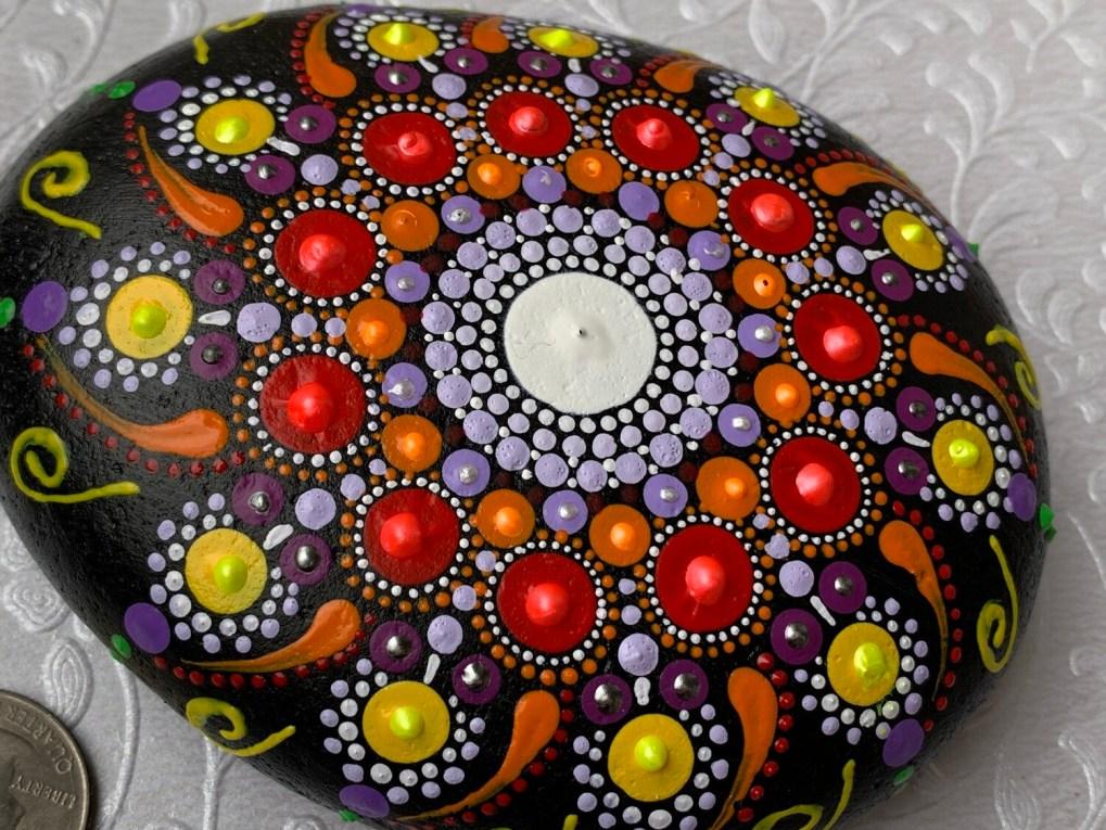 Sunstar Dot Mandala Rock Large