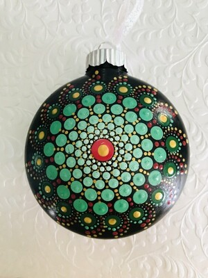 Shades of Green Christmas Ornament