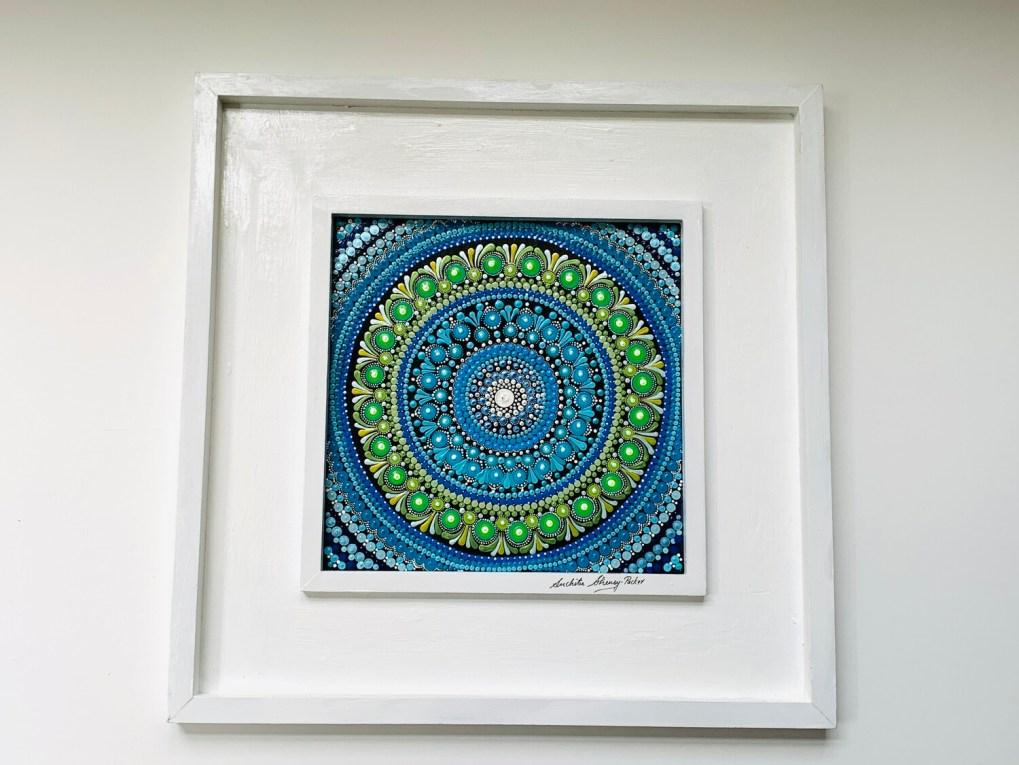 True Blue Mandala Wall Decor