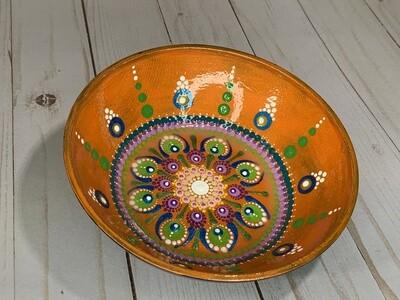 Mandala Bowl Bright Mango