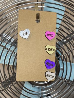 Wood Hearts set - Pastel