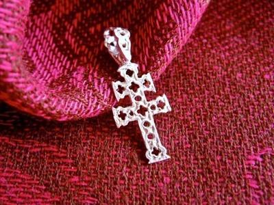 Caravaca cross necklace ~ openwork, silver