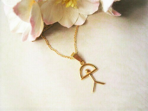 Indalo Man necklace ~  gold-filled classic