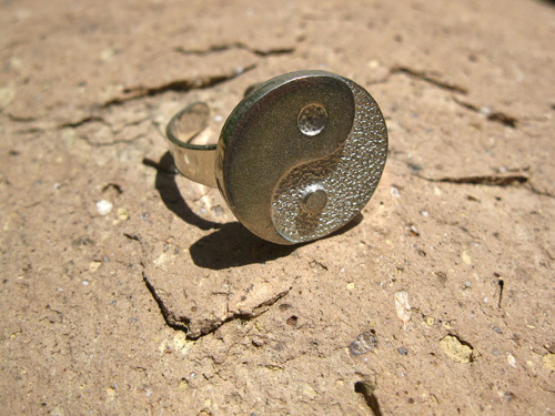 Pair of YIN YANG friendship rings