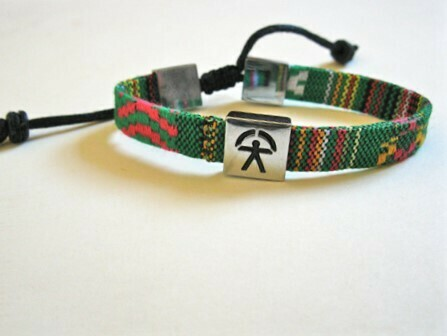 Indalo bracelet ~  woven patterned adjustable strap 2