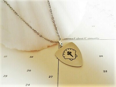 sAfe Jewellery - Travellers Shield necklace for safekeeping ~ slim