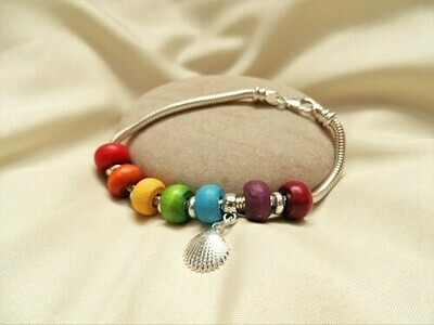 Stay Safe bracelet ~  Rainbow of Hope