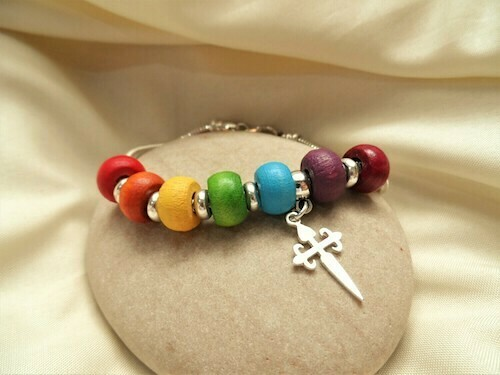 Take Care bracelet ~  Rainbow of Hope