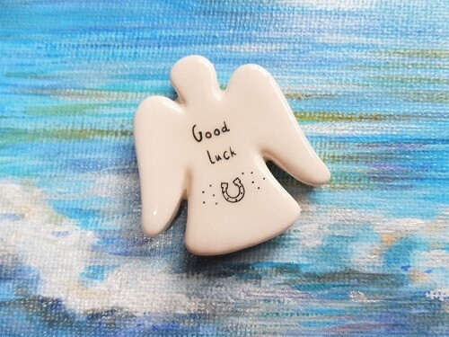 Guardian angel ~ ceramic luck token