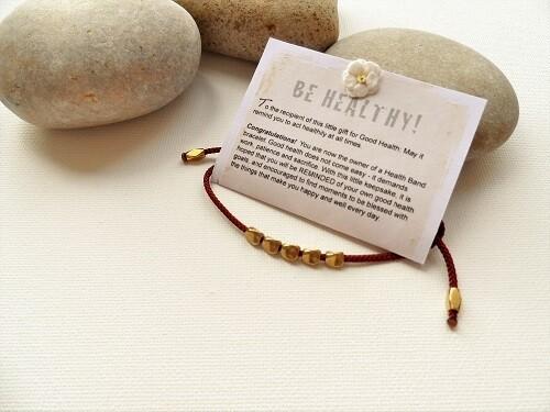 Health Band bracelet for Good Health ~ copper nuggets, Russet