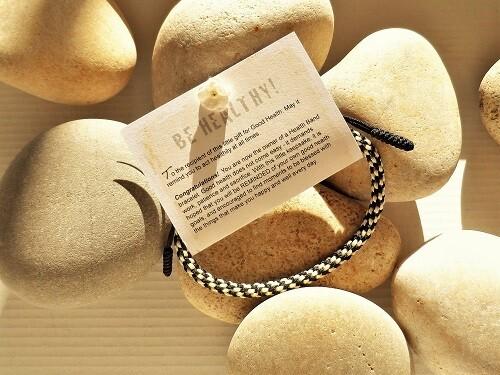 Health bracelet - Gift to wish Good Health ~ Black/White