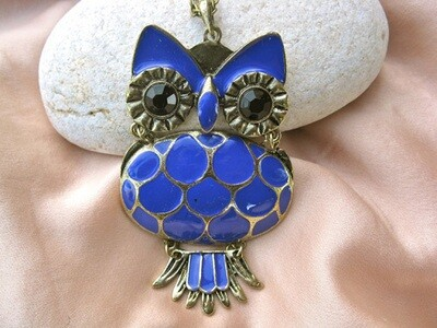 Wise owl necklace, large