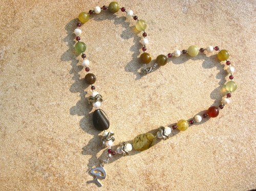 Jade + pearl necklace ~ Indalo