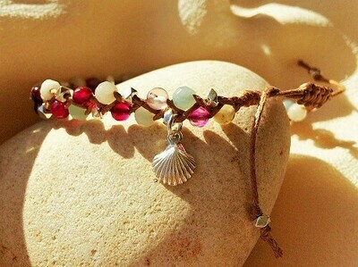 Rainbow of Hope bracelet Stay Well Be Safe Camino scallop shell
