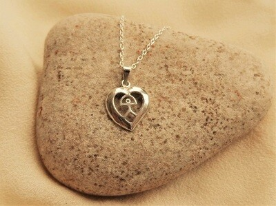 Indalo necklace ~ heart, silver