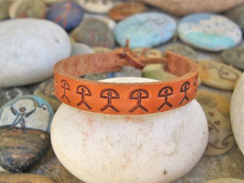 Leather Indalo bracelet ~ classic