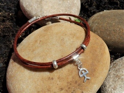 Indalo bracelet ~ leather wraparound, for Wellness