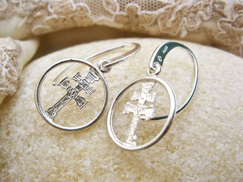 Caravaca cross earrings ~ silver