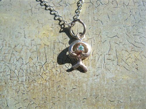 Indalo necklace ~ tiny sparkle, modern
